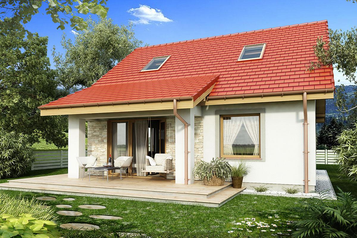 MALEŃSTWO B - mały dom z poddaszem